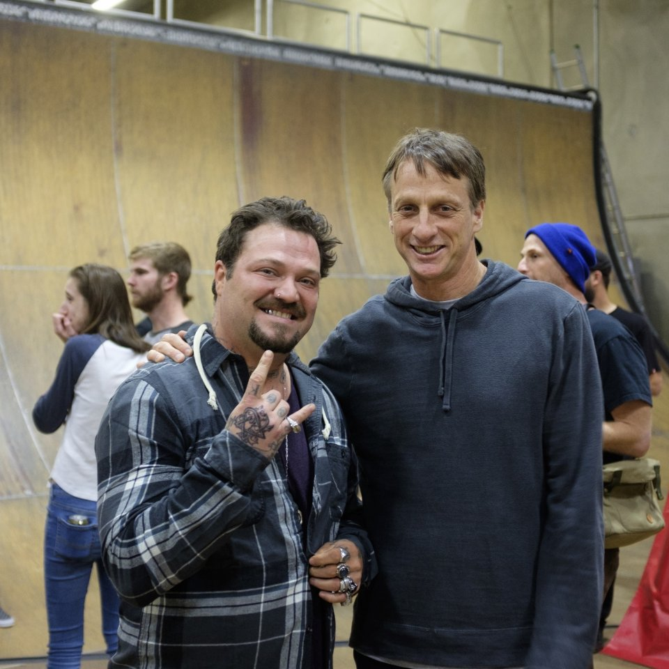 Bam Margera &amp; Tony Hawk  Photo: Ryan Esquibel​</span>