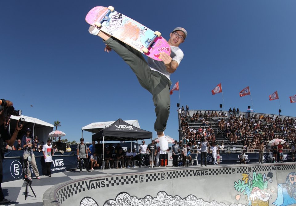 Karl Berglind went crazy at HB in the Men&#039;s Pro Tour Prelims scoring an 89.05.  Photo: Anthony Acosta</span>