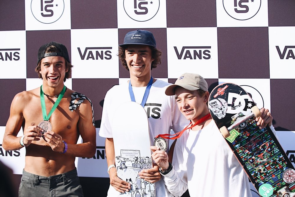 3rd Place - Heimana Reynolds, 1st Place - Patrick Ryan & 2nd Place - Luiz Francisco Canettieri Nunes Mariano Kris Evans
