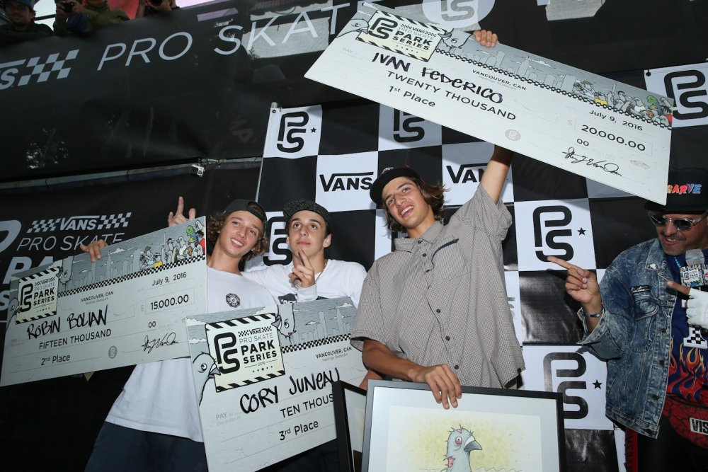 The winners! Robin Bolian, Cory Juneau and Ivan Federico Anthony Acosta